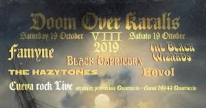 doom over karalis - cueva rock - quartucciu - cagliari - 2019 - 24 ottobre - famyne - black capricorn - the black wizards
