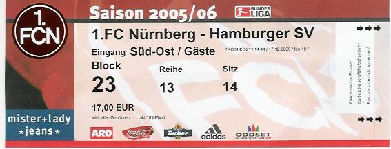 Ich war dabei, mein erstes Live - HSV - Spiel!