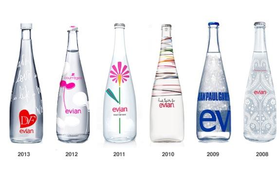 evian designer bottles