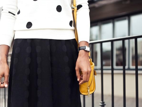Ann Taylor Dot Flare Sweater Dress