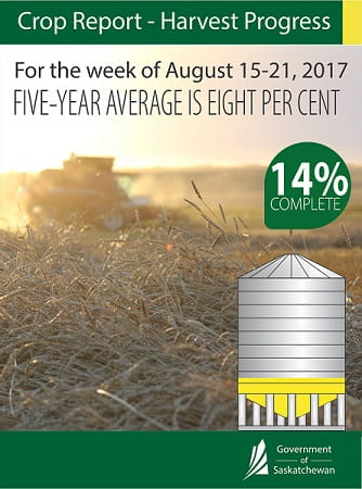 CROP REPORT FOR THE PERIOD AUGUST 15 TO 21, 2017 Agriculture SouthWest Saskatchewan  Crops