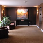 The lobby of your condo building