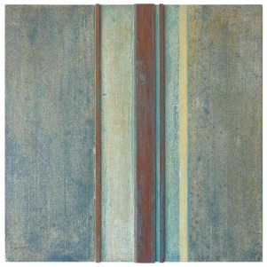#10   50 x 50 cm   óleo sobre tabla y listones de madera de sapelli
