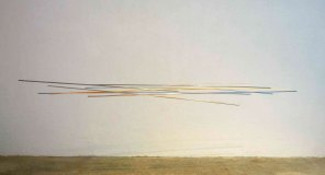 móvil turquesa-naranja | 275 x 140 x 60 cm