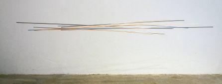 móvil turquesa-naranja   275 x 140 x 60 cm