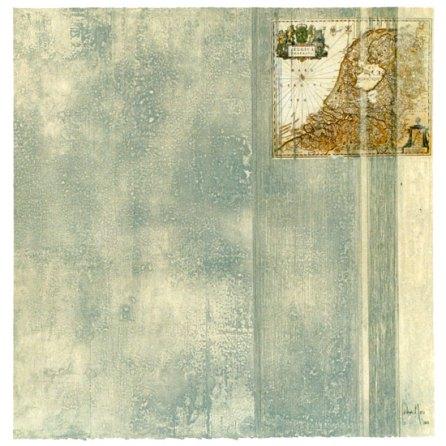 Flandes | monotipo con collage | 56 x 56 cm