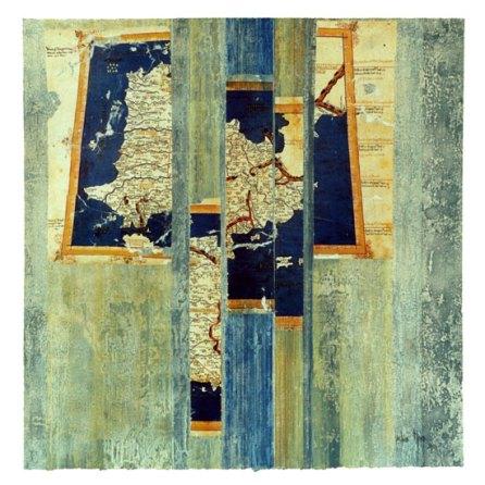 Iberia | monotipo con collage | 56 x 56 cm