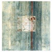 Mar del Zur | monotipo con collage | 56 x 56 cm
