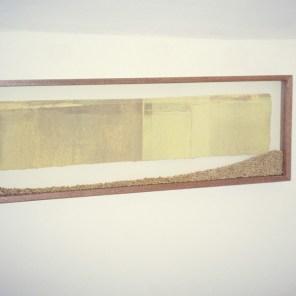 grabado en vitrina con trigo   15 x 62 cm   edición 3 ejemplares +1P.A.