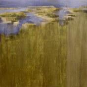 Tajo en la frontera II | 100 x 100 cm | óleo sobre tela