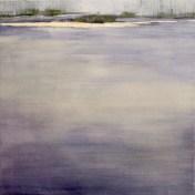 río calmo   50 x 50 cm   óleo sobre tela