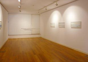 Sala interior | Estructura móvil B 3 óleos de 30 x 60 cm