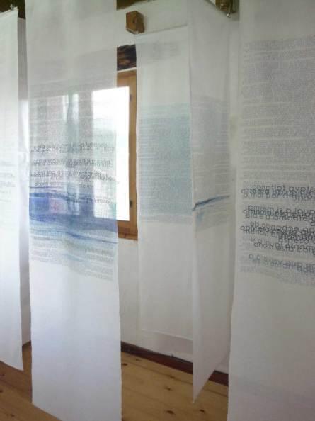 as águas do mundo   en montado en la exposición de El Hacedor