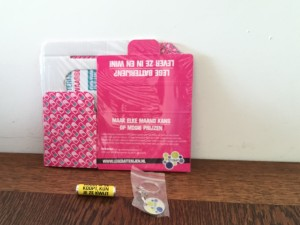Huishoudbeurs shoplog lege batterijen
