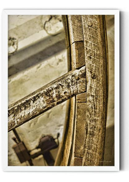 PT01: 16th Century treadwheel fine art photo wall art in natural colours