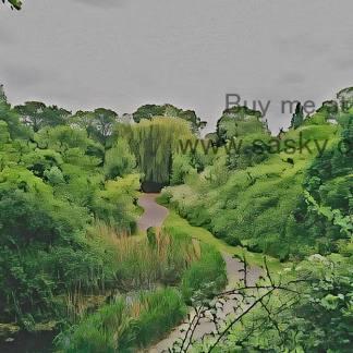 Gordon Gardens Wall Art Picture, style PT02: Watercolour