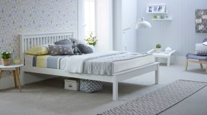 Grace Low Foot End Solo Wooden Bed White