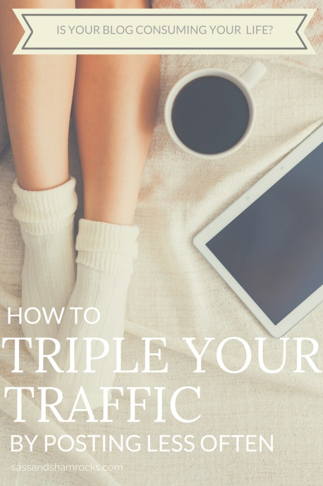 Triple Your Traffic By Posting Less Often