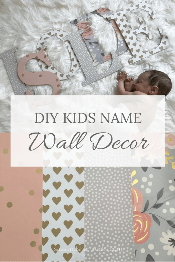 DIY Nursery Name Decor