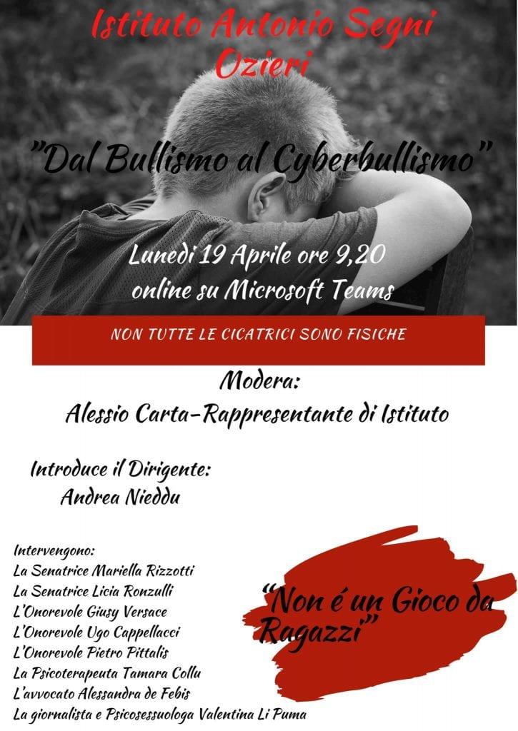 """""""Non è un gioco da ragazzi"""", assemblea su bullismo e cyberbullismo all'Istituto Antonio Segni di Ozieri"""