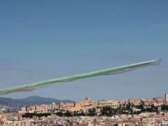 Le Frecce Tricolori su Cagliari