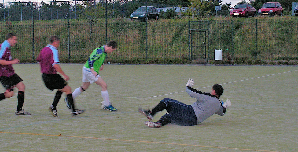 Another poor decision for Logan meant that Adam Foster chipped the ball over him in Hendon's 4-2 win against Downhill.