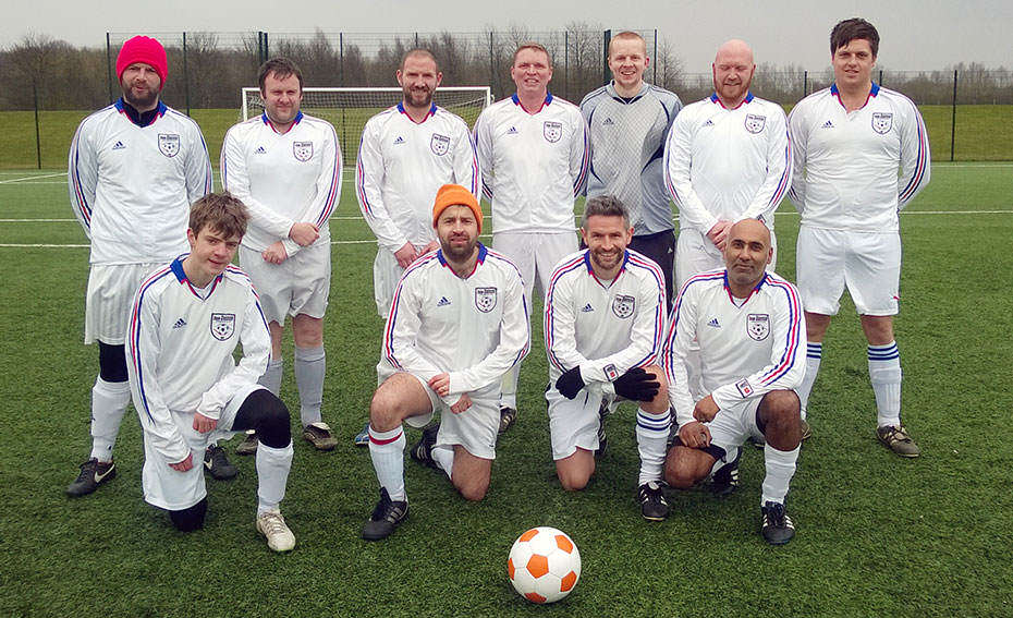 11-a-side team against Sunderland DFC. 28th February 2015