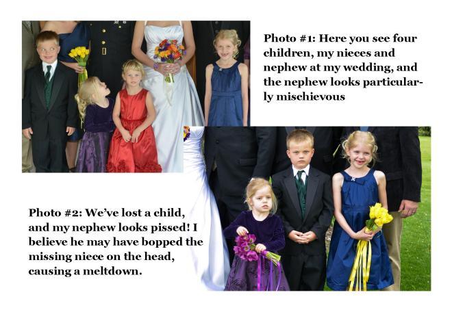 Family Wedding Photo Drama