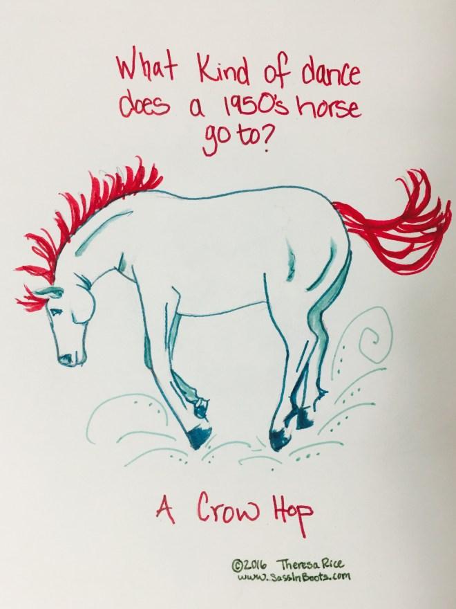 Crow Hop 1950's Horse