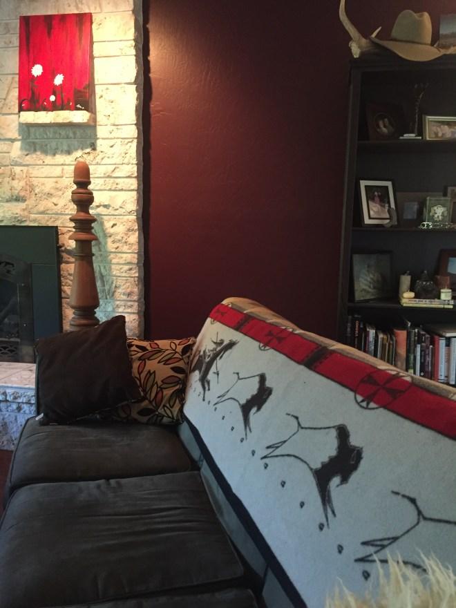 Pendleton Wool Blanket Styled in Living Room