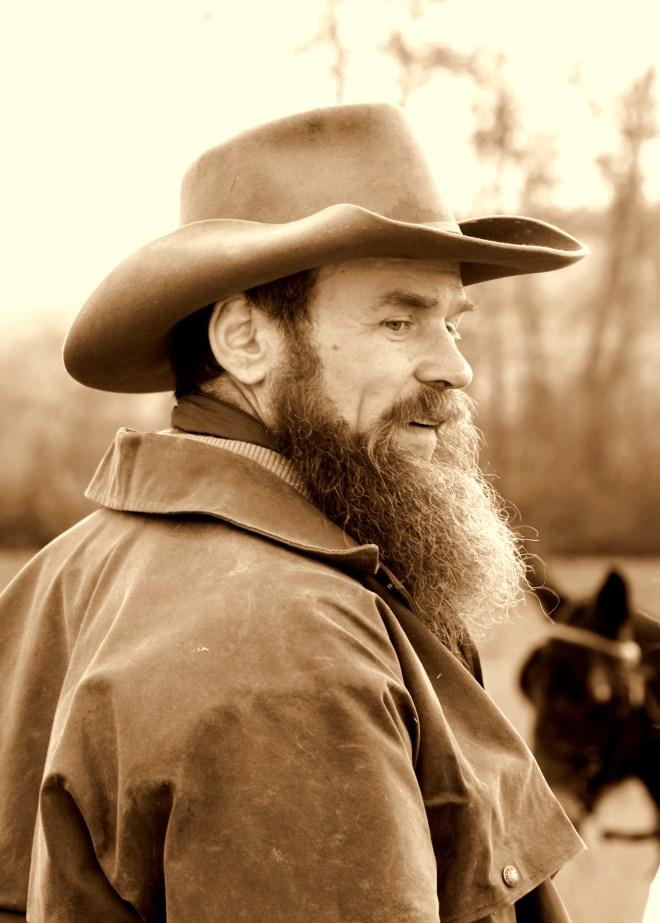 Cowboy Plowing Fields