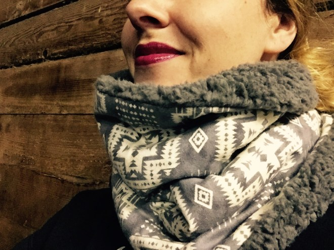 Pink Pine Cone Studio Neck Warmer
