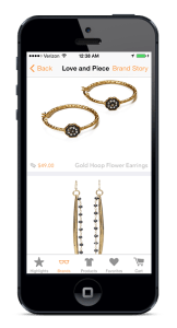 Orange-Harp-Mobile_app-Love-And-Piece-Jewellery-earrings