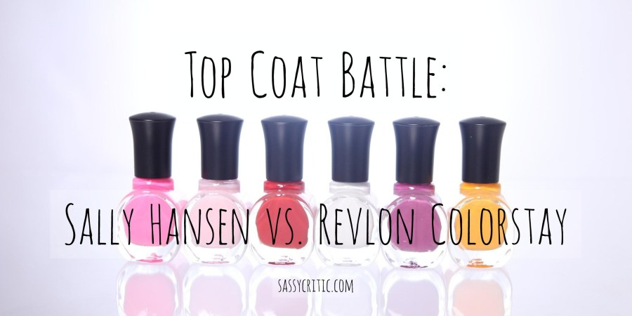 Sally Hansen vs Revlon top coat - sassycritic.com