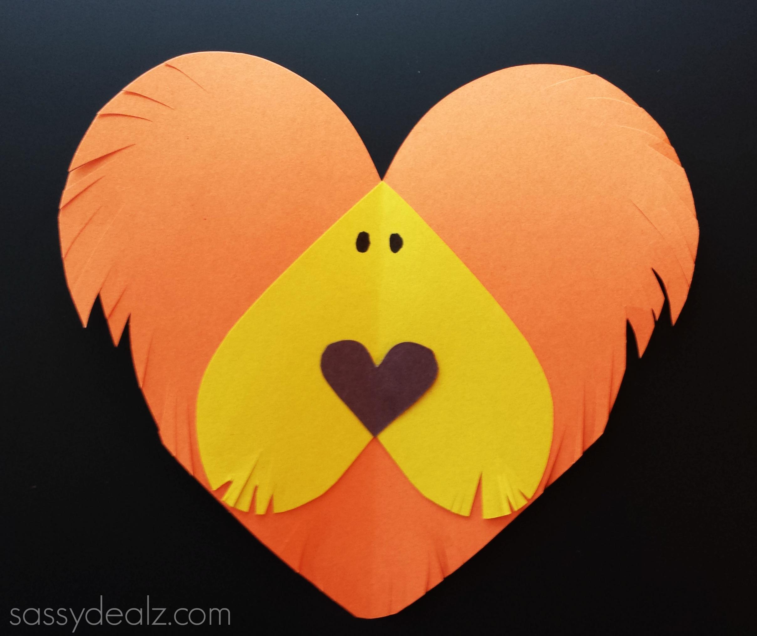 Lion Heart Craft For Kids