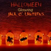Halloween Crafts For Kids Glowing Jack O' Lantern Ghost Tutorial