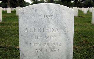 Tombstone Tuesday: Alfrieda Kirschstein Schaaf