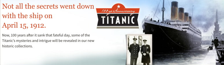 New Titanic Collection at Ancestry