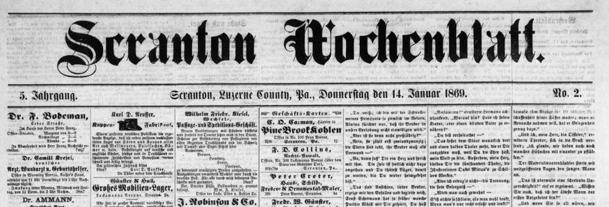 Free Online German-Language Newspapers sassy jane genealogy
