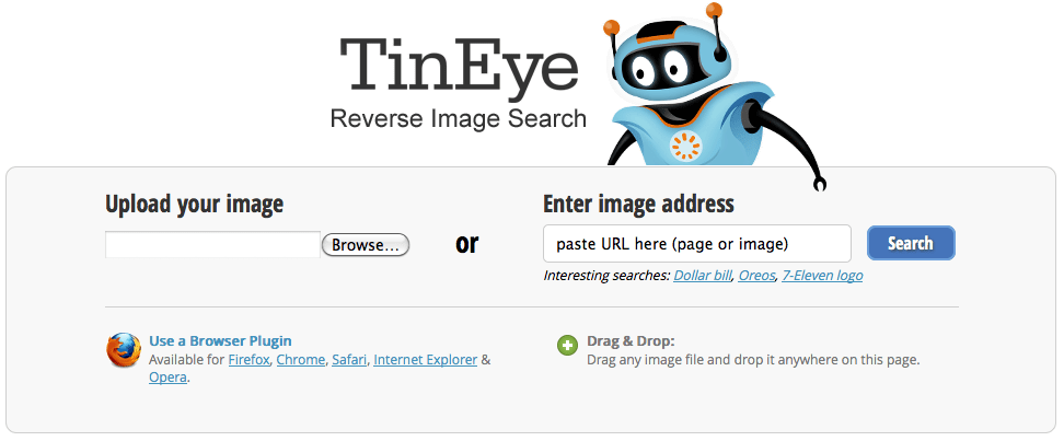 Tineye reverse search