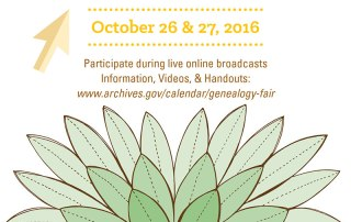 National Archives Genealogy Fair 2016