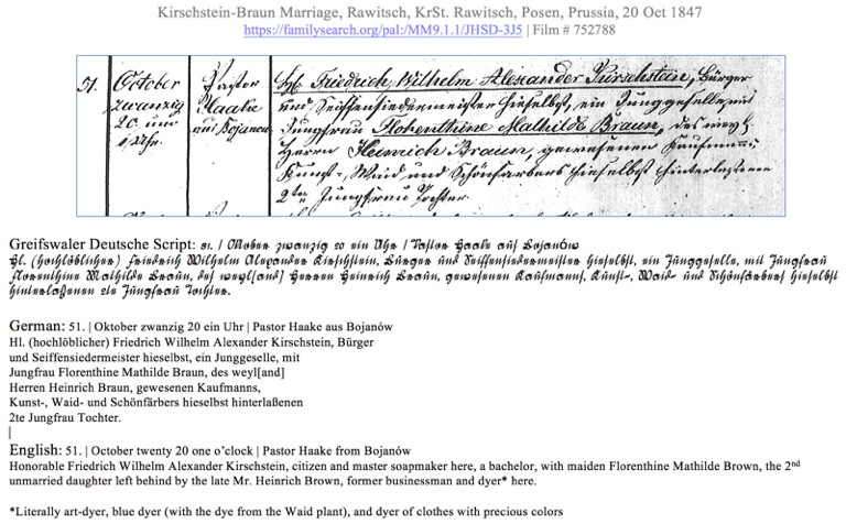 Translating German Genealogy Records