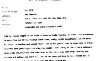 American Life Histories Typescript