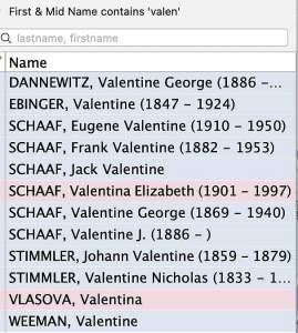 Family Tree Valentines mine