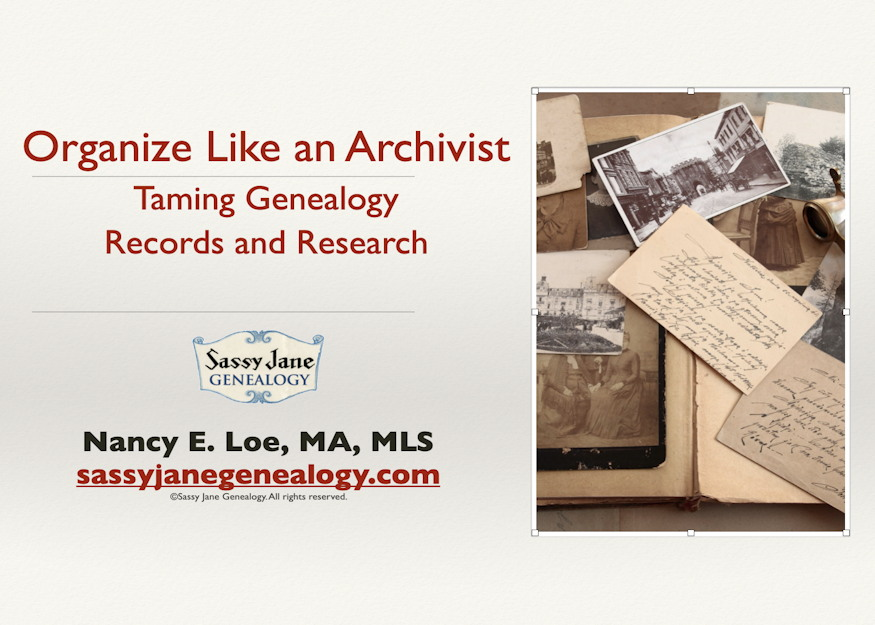 genealogy presentation organize like an archivist sassy jane loe