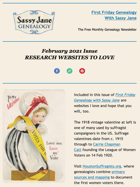 first friday genealogy newsletter sassy jane feb 2021
