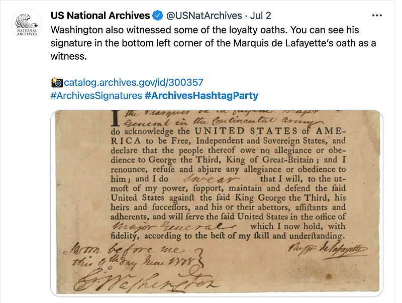 archives hashtag party