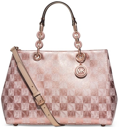 Rose Gold handbags - Michael Kors Cynthia Rose Gold