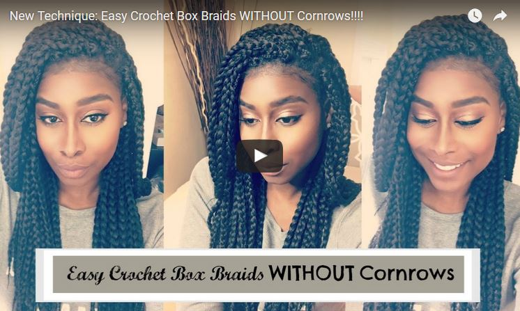 New! Easy Crochet Box Braids WITHOUT Cornrows!