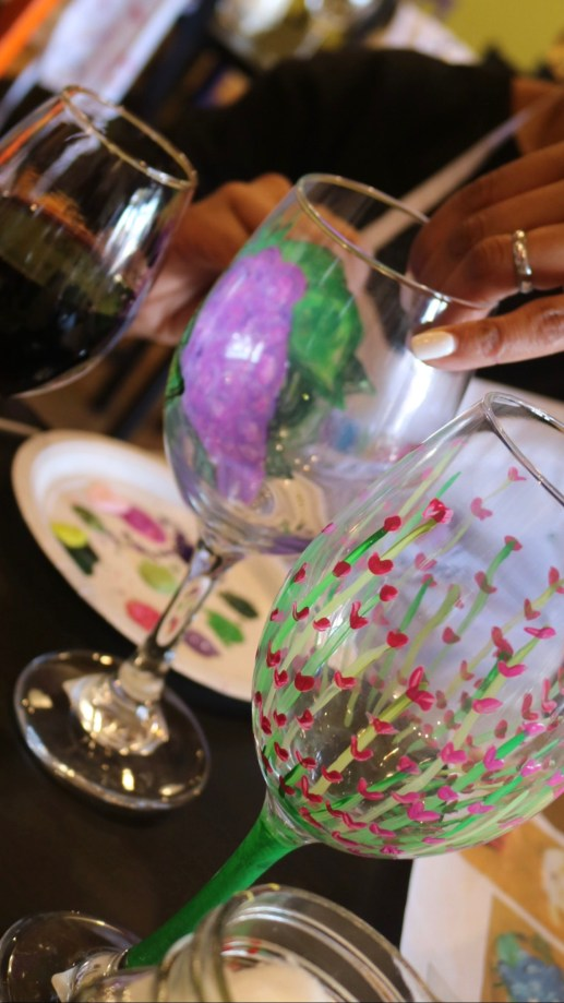 """Wine Fixes Everything!"""" Wine Glass Paint Party For Mom Friends"""